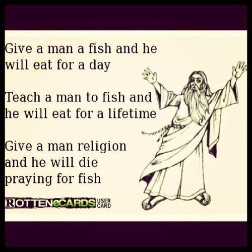 Give a man a fish what comes to my mind for Give a man a fish bible verse